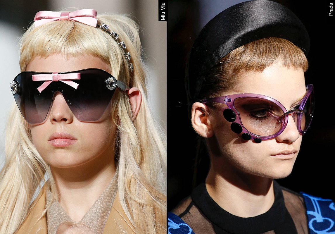 bf296a12e ... اشكال نظارات شمسية نسائية ربيع 2019 موضة ماركات النظارات prada miu miu  برادا ميو ميو