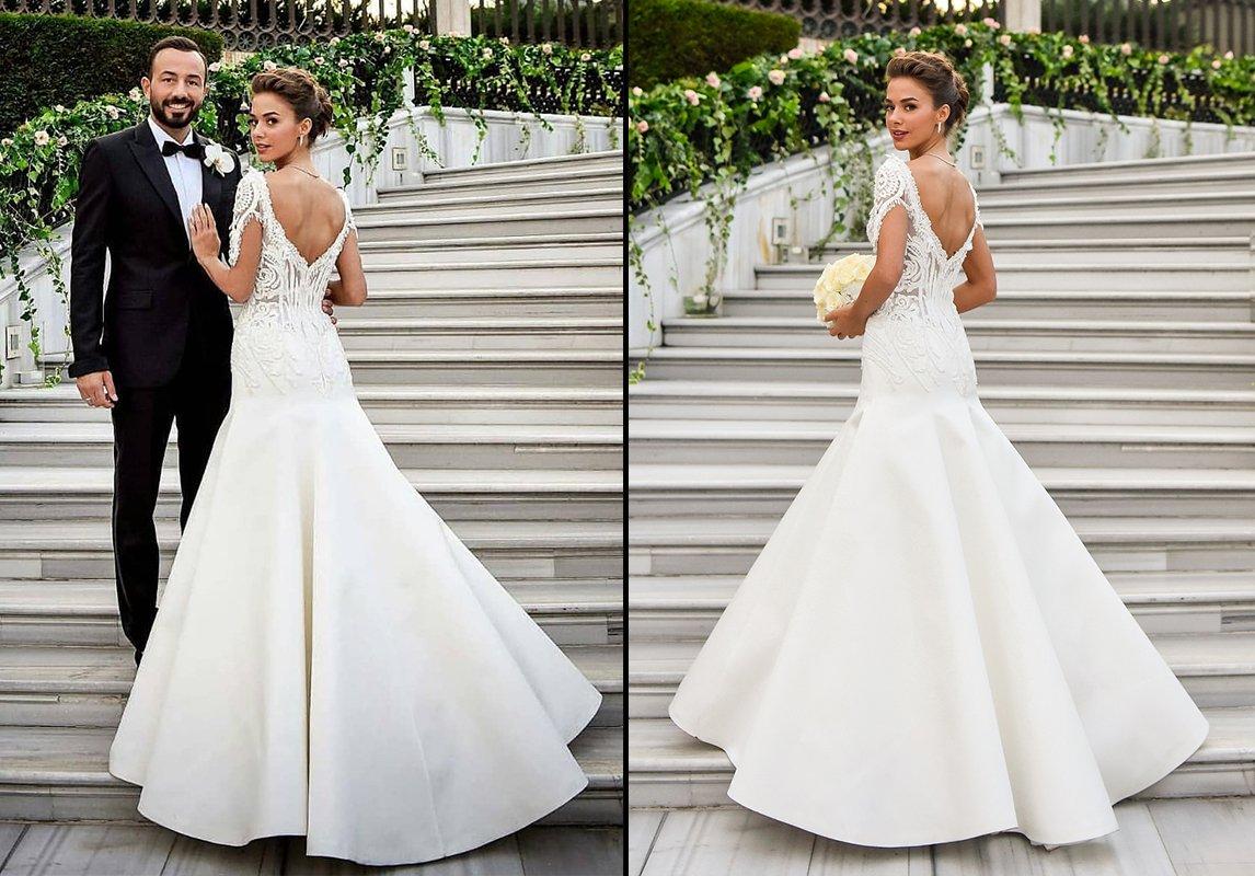 259dcf7f6aa02 مجلة زهرة السوسن - صور حفل زفاف الممثلة التركية Bensu Soral  ثلاث ...
