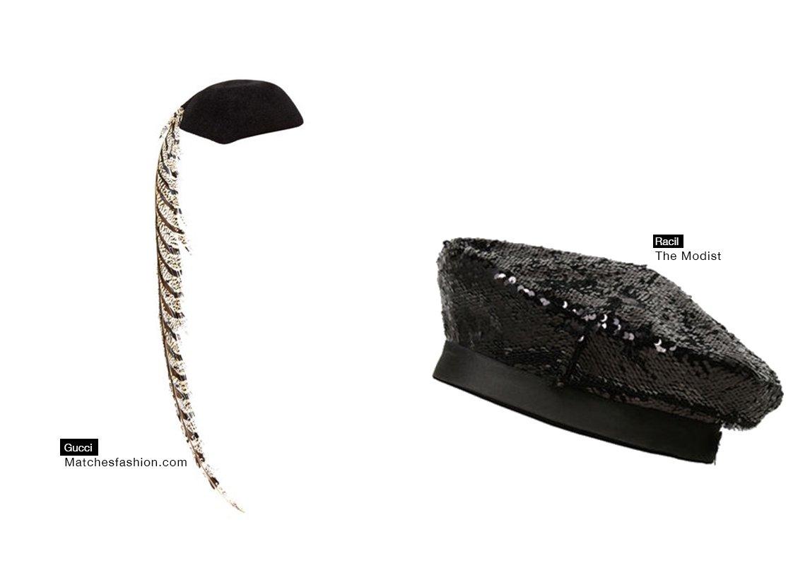 00b62d98a3bf8 عندما نتحدث عن القبعات للسهرة، لا نعني أبداً كل الأشكال. في حال رغبتِ في  اعتماد القبعة، اختاري البيري المزيّنة بالباييت مثل Racil Beret، والتي  يمكنكِ ...
