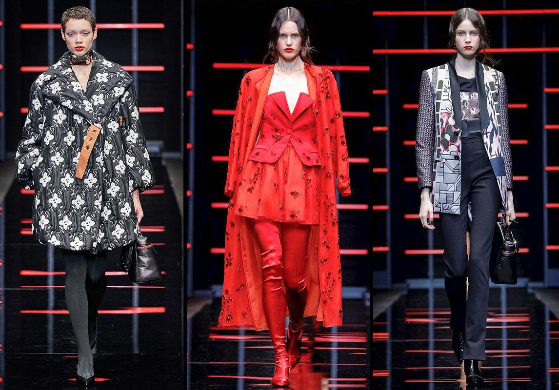 fbdb6ccf6eff7 ... مجموعة الازياء الجاهزة خريف 2019 اسبوع الموضة في ميلانو تصاميم منصة عرض  امبوريو ارماني emporio armani