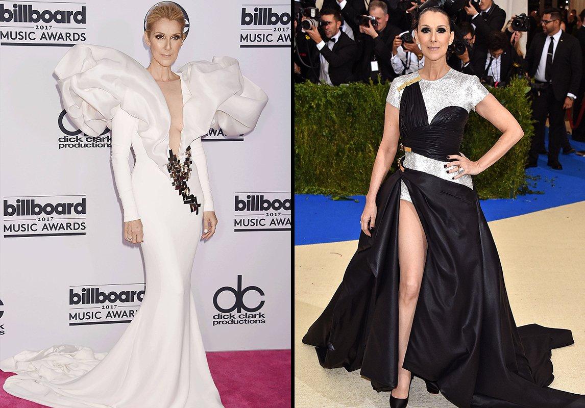 3f48f70668494 ... My Heart Will Go On في حفل Billboard Music Awards 2017 مرتديةً فستان ذا  قصّة أكتاف ضخمة من Stéphane Rolland Couture. أشعلت الإنترنت بهذه الإطلالة.