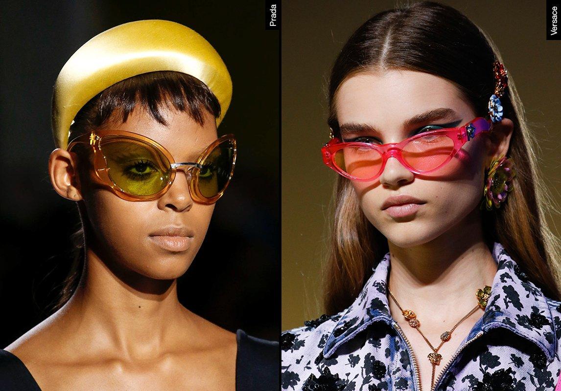 41a008231 ... اشكال نظارات شمسية نسائية ربيع 2019 موضة ماركات النظارات versace prada  فرساتشي برادا