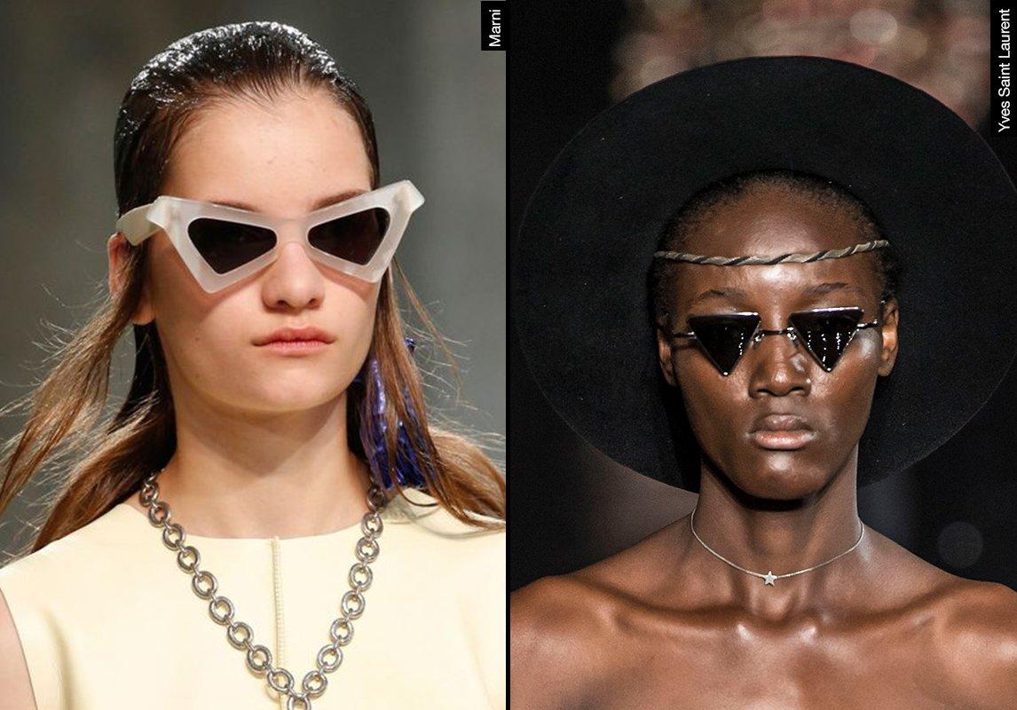 83ca9f609 ... اشكال نظارات شمسية نسائية ربيع 2019 موضة ماركات النظارات yves saint  laurent marni ايف سان لوران