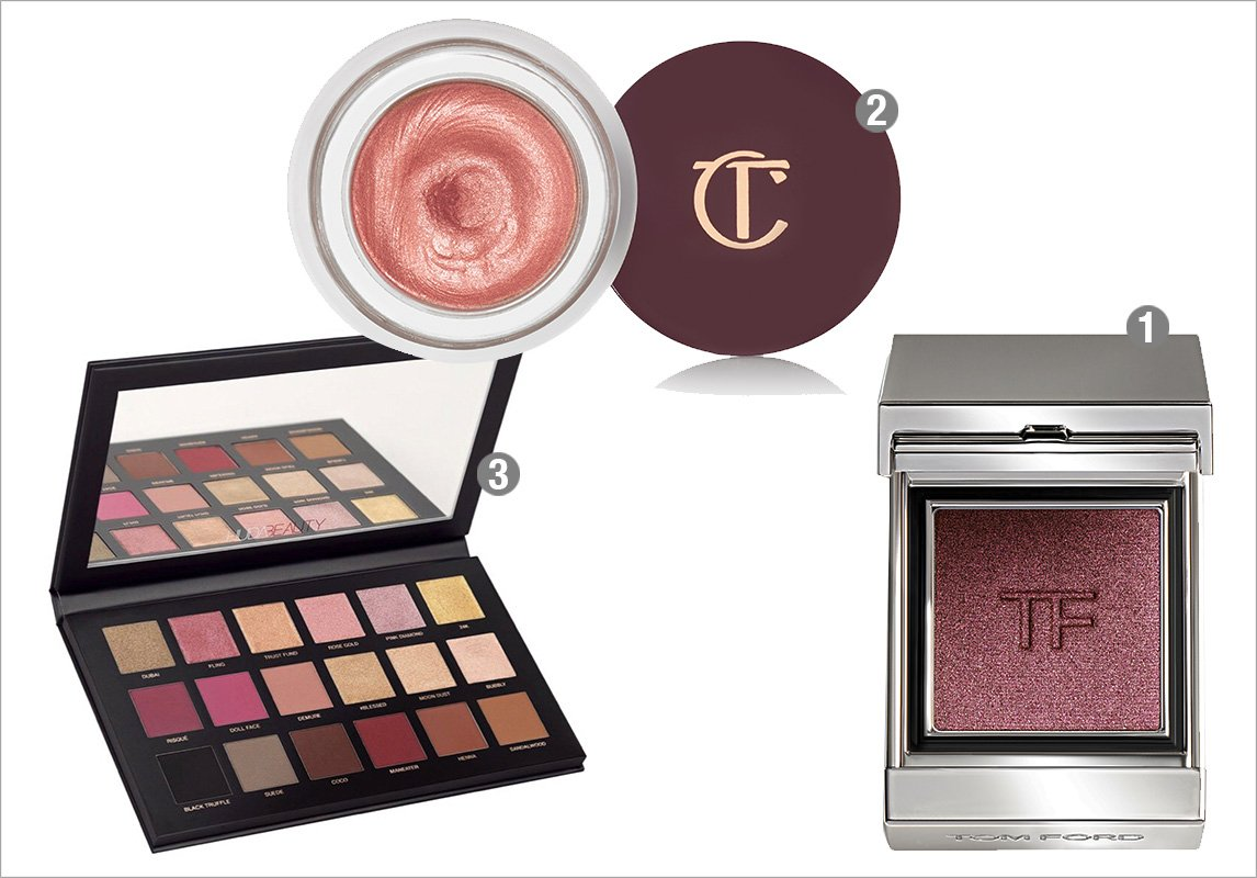 34178e8bd 2- CHARLOTTE TILBURY Eyes To Mess in Rose Gold 3- HUDA BEAUTY Rose Gold  Palette Remastered