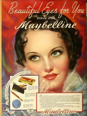 شكل الآيلاينر عام 1930 مكياج كحل اثمد كحل اسود