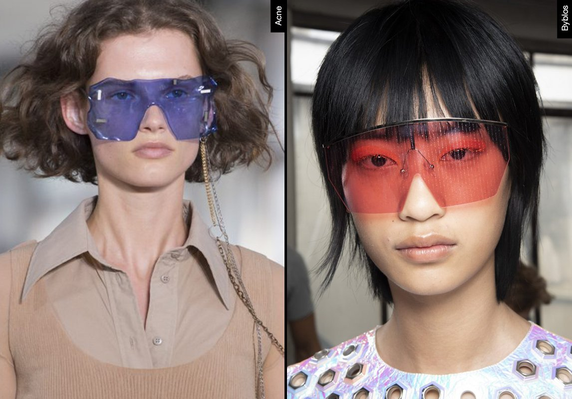 5aff876e4 اشكال نظارات شمسية نسائية ربيع 2019 موضة ماركات النظارات byblos acne ...