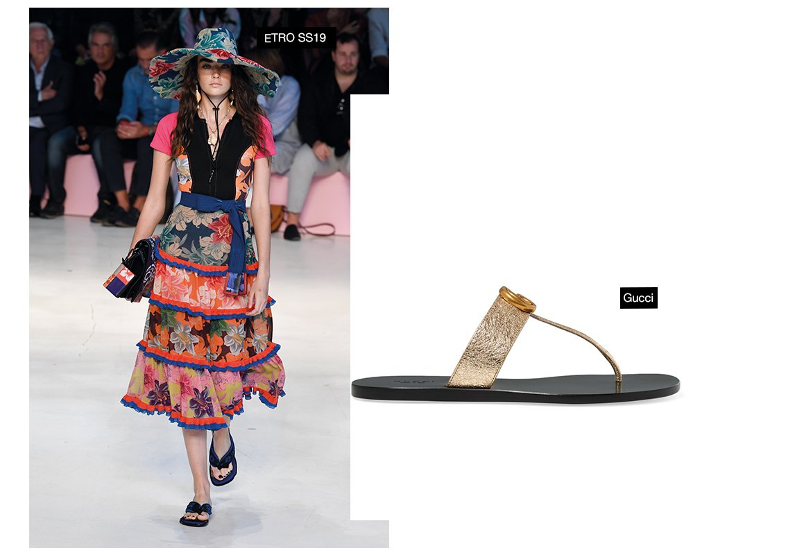a28367418c0fb 3- Flip Flops الحذاء المفضل لدينا، لأنه مريح جداً! يبقى هذا الحذاء كصيحة من  العام الماضي ويتابع مساره في العام 2019.