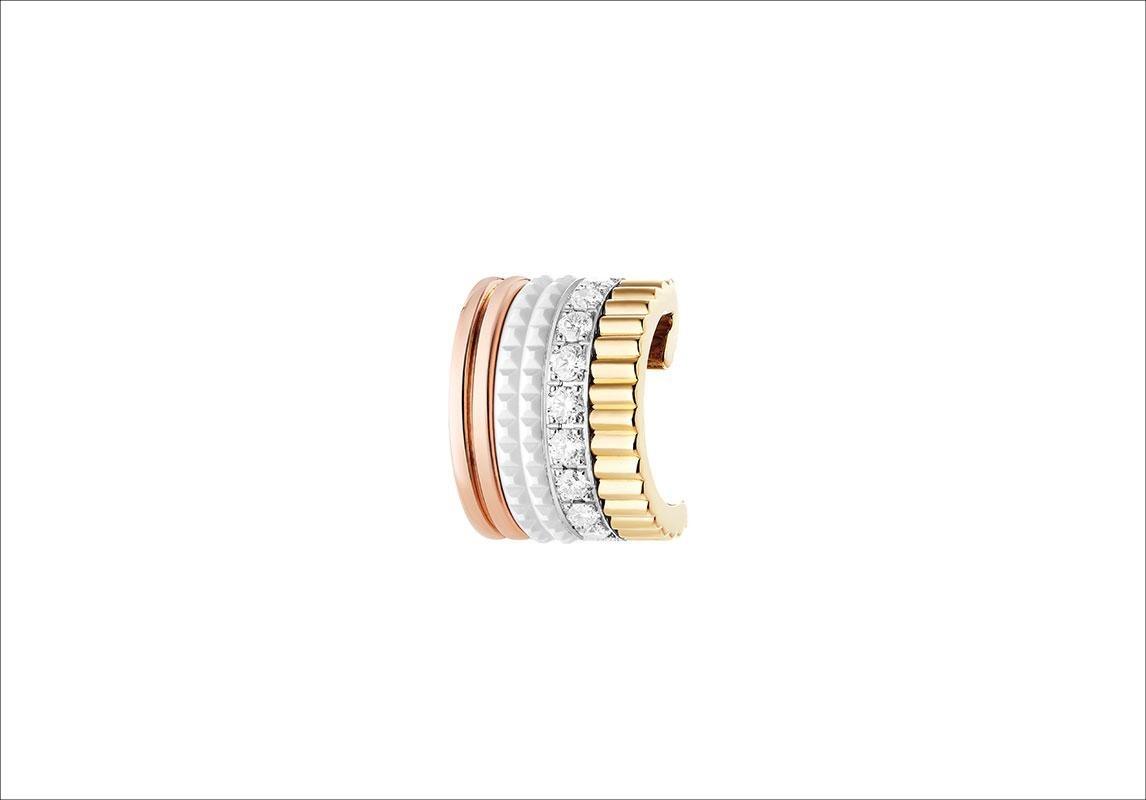 حلق بوشرون BOUCHERON Quatre White Edition Clip Earring صور مجوهرات