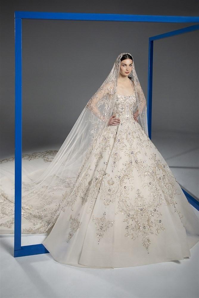 فستان عروس فستان زفاف فساتين زفاف فساتين عرس صيف 2021 رامي قاضي Rami Kadi